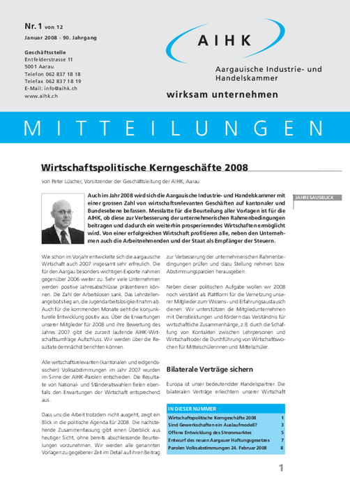 AIHK Mitteilungen 2008